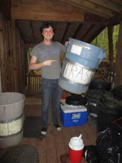 Troy separating recycling from trash