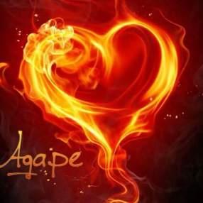 Agape Heart on Fire
