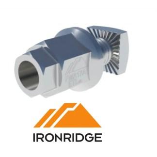 IronRidge Square Bolt Bonding L-Foot Hardware Kit Single