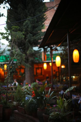 Our favorite dinner spot in Thamel