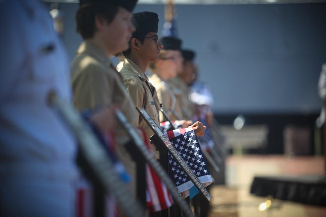 Memorial Day ceremony honoring heroes.