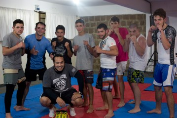 """This doesn't look like your average church, but in Southern Brazil, Freedom Fighters swaps chairs for wrestling mats to train young men who would never step into a church. Their motto is """"free of vices, dependent on Christ"""" and they close with a short Bible study."""