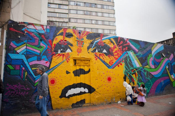 The colorful city of Bogota is the world's trendiest showcase of modern street art.