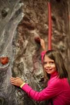 Selah's first rock climbing!