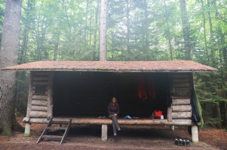 What a typical shelter looks like on the AT.
