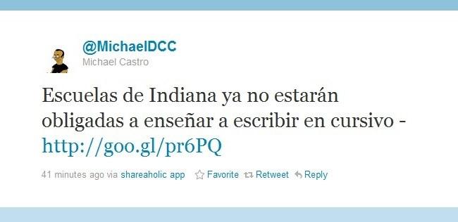 tuit de MichaelDCC twitter