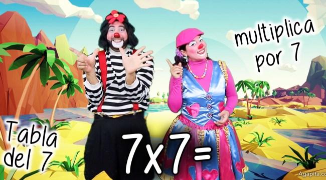 Tabla del 7 - Multiplica por 7