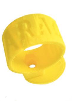 Soporte tubo refrigeración amarillo