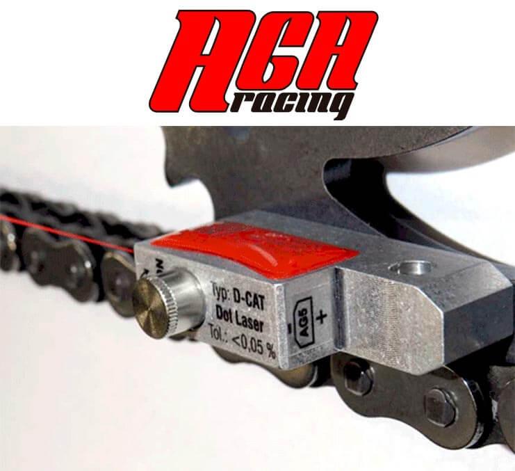 alineación láser corona piñón transmisión AGA Racing tienda karting