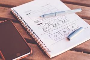 Libreta con apuntes de diseño web VIUNDESIGN