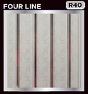 plafon pvc motif four line