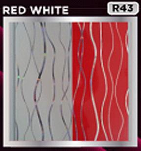 plafon pvc motif red white
