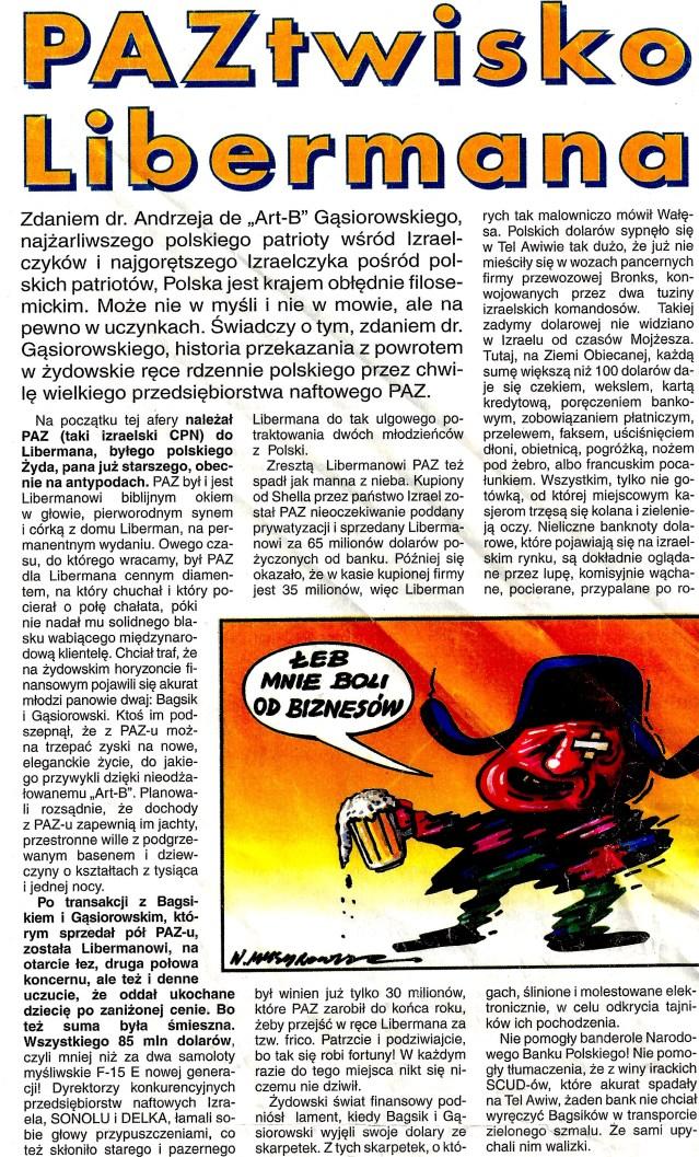 1995.02.01 NIE - Paztwisko Libermana 1