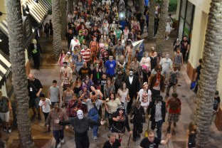 Zombies take over downtown Phoenix during the Zombie Walk on October 24, 2015.