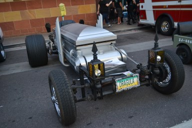 One of the many unique cars at Comicon in downtown Phoenix Saturday afternoon.