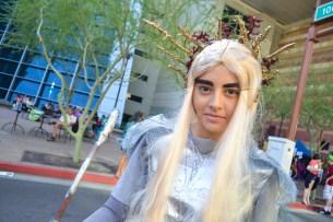 Thalia Espana smiles as she enjoys Comicon in downtown Phoenix Saturday afternoon.