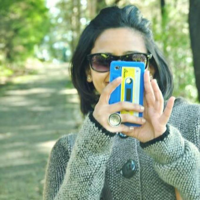 bhakti with phone.jpg