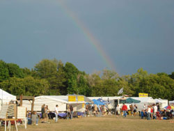 Rainbow over the festival