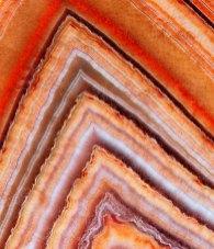 Alternating Bands of Microcrystalline and Macrocrystalline Quartz
