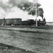 Freight train along Grand Marais Bay