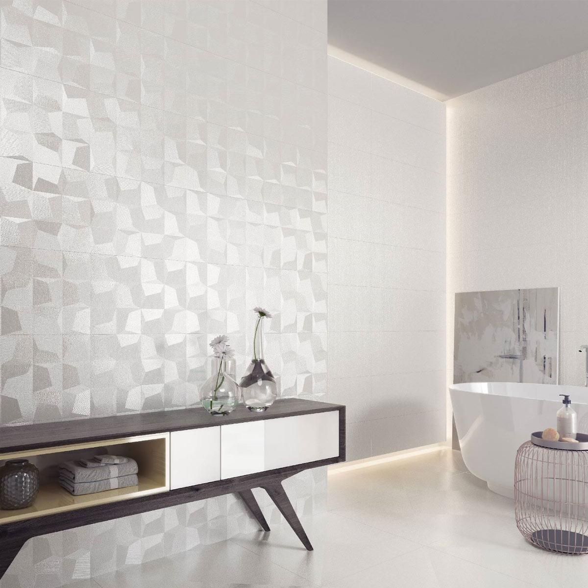 cubic white 12 x36