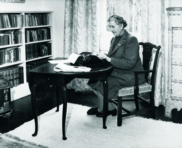 Agatha Christie Typing at Home