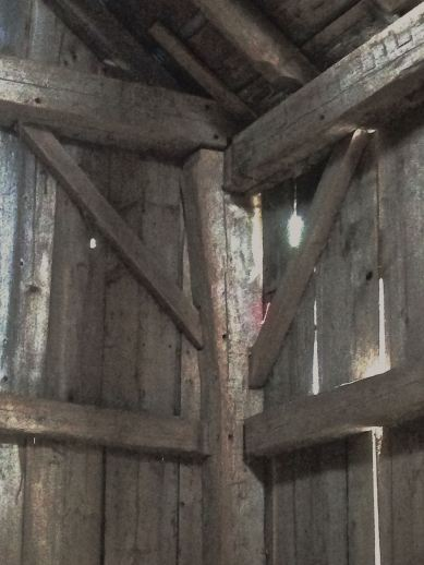 Joinery in Guyette barn. Photo Pleun Bouricius