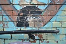 Egyptian-inspired mural at Dvorak Park in Pilsen