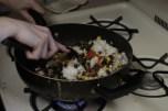 on oublie pas de rajouter un peu d'eau sinon le riz devient trop sec
