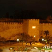 2019NM0211-Meknes-Riad-Vue place Lalla Aouda jeux lumieres