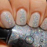 Holo glitters & nude polish