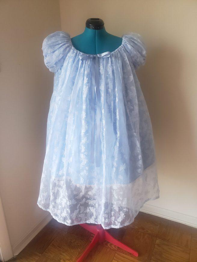 blue butterfly chemise set