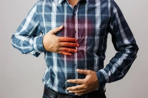 Person dealing with acid reflux
