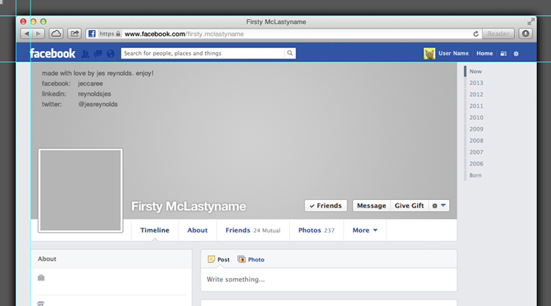 Template For Facebook. via kent strait. facebook cover page ...