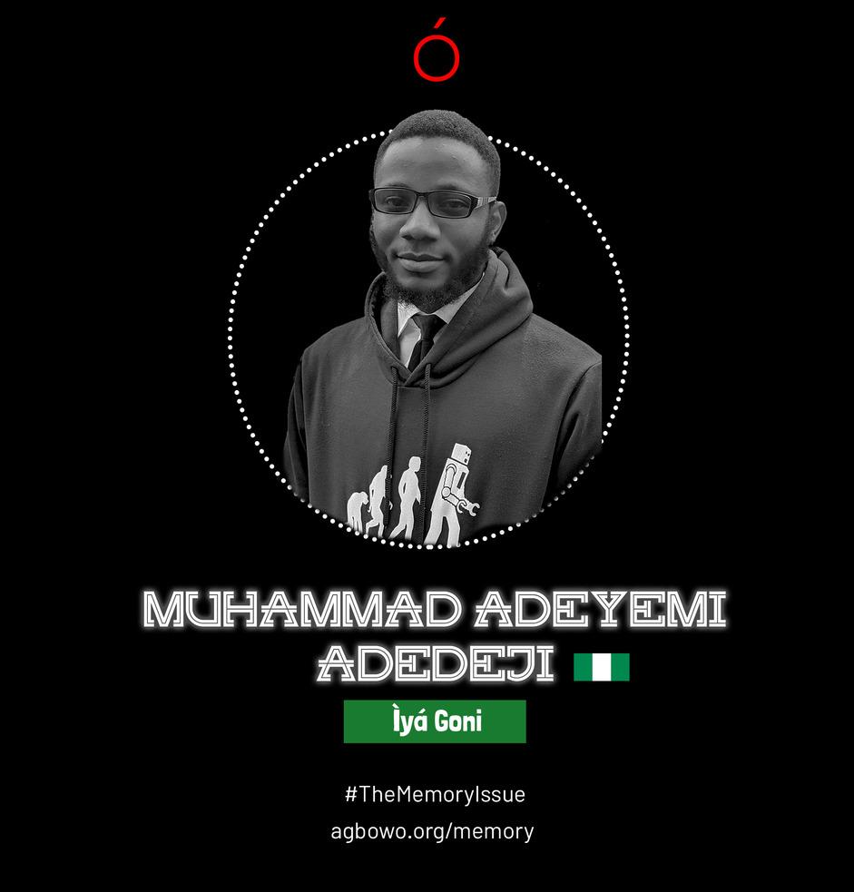 Muhammad Adeyemi Adedeji The Memory Issue Agbowo Art Magazine