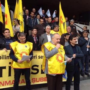 Egitim-Sen Maraş şubesi basın açıklaması yaptı