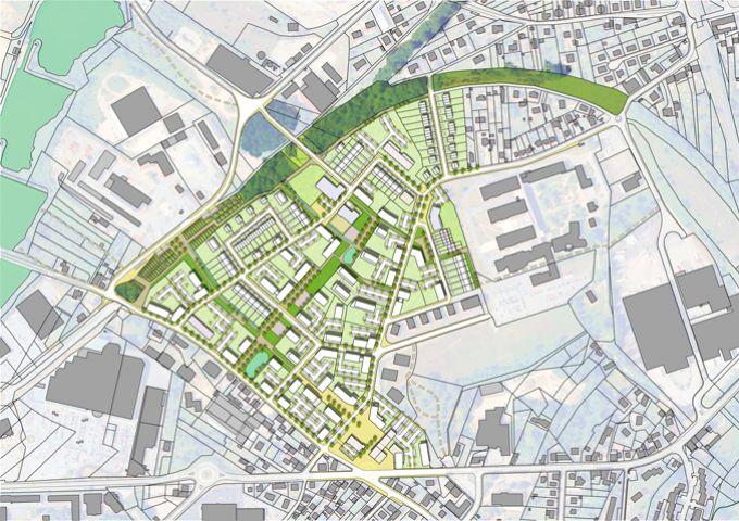 Plan masse indicatif de l'aménagement à terme