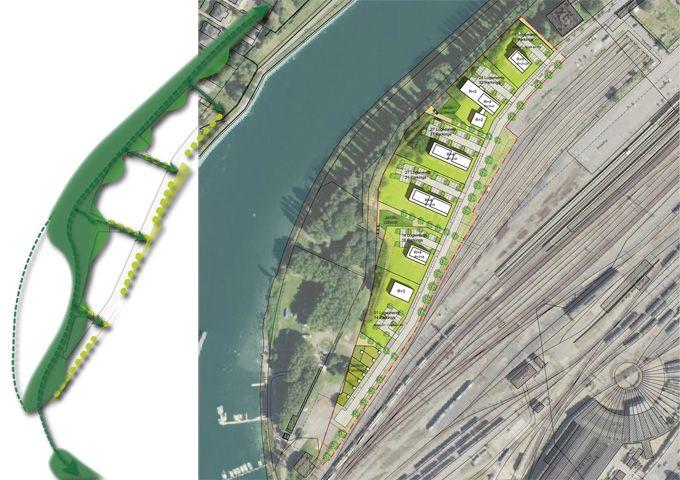 Thionville : Esquisse indicative de l aménagement et structuration paysagere