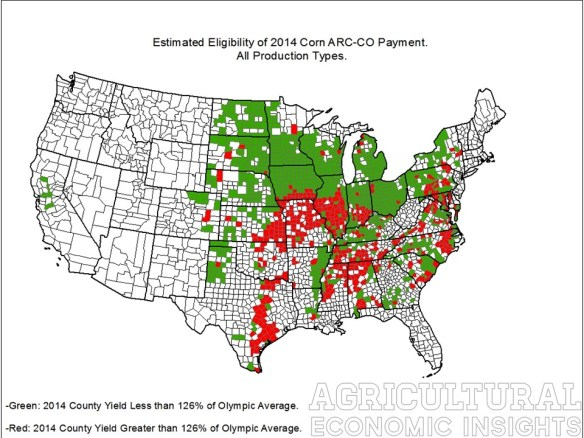 ARC-CO, Corn, 2014. MYA Price. Payment Eligibility. Agricultural Economic Insights