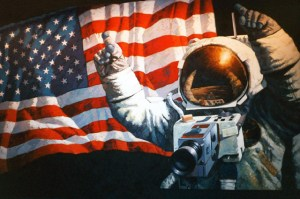 Original Mural at Johnson Space Center in Houston. Photo Credit: NASA