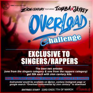 Zion Centruary Ft. Ichaba & Jaykey – Overload (FreeBeat)  (Instrumental)
