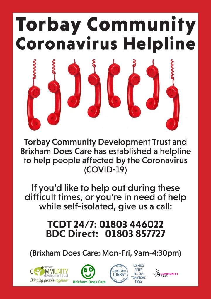 TCDT COVID19 Helpline poster