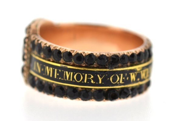 Mourning Jewelry Ring, Victorian