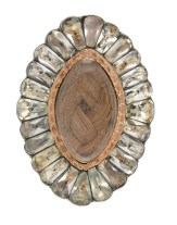 Victorian Hair Brooch with Engraving