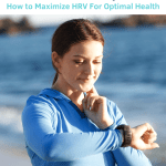 "Woman checking her pulse, words ""What is Heart Rate Variability? How to Maximize HRV for Optimal Health"""