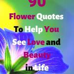 "A blue flower, headline ""90 Flower Quotes To Help You See Love and Beauty in Life-min"