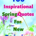 """A picture of pink and purple flowers, headline """"150 Inspirational Spring Quotes For New Beginnings"""""""