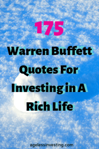 """A rolling snow ball, headline """"175 Warren Buffett Quotes For Investing in a Rich Life"""" agelessinvesting.com"""