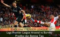Laga Premier League Arsenal vs Burnley