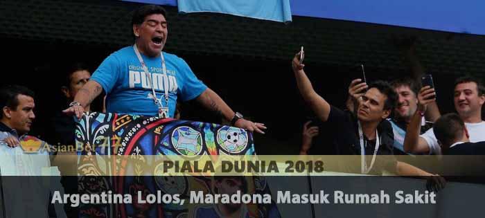 Argentina Lolos, Maradona Masuk Rumah Sakit Agen Bola Piala Dunia 2018